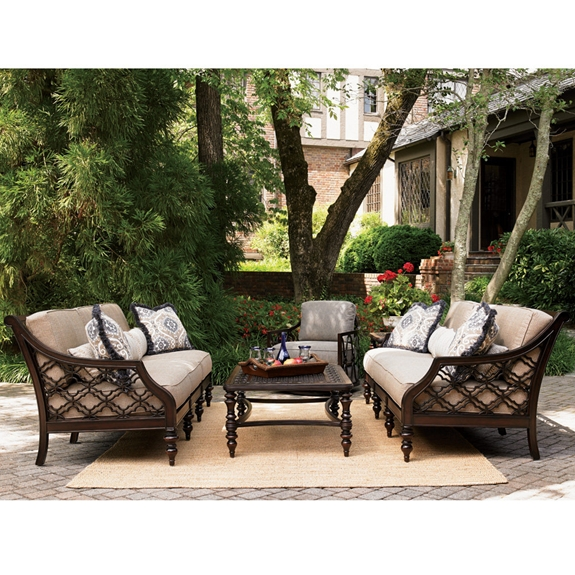 Tommy Bahama Black Sands Outdoor Sofa Set with Cocktail Table - TB-BLACKSANDS-SET7