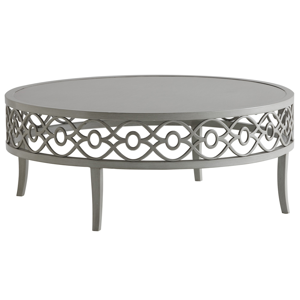 "Tommy Bahama Silver Sands 40"" Round Cocktail Table - 3945-947"