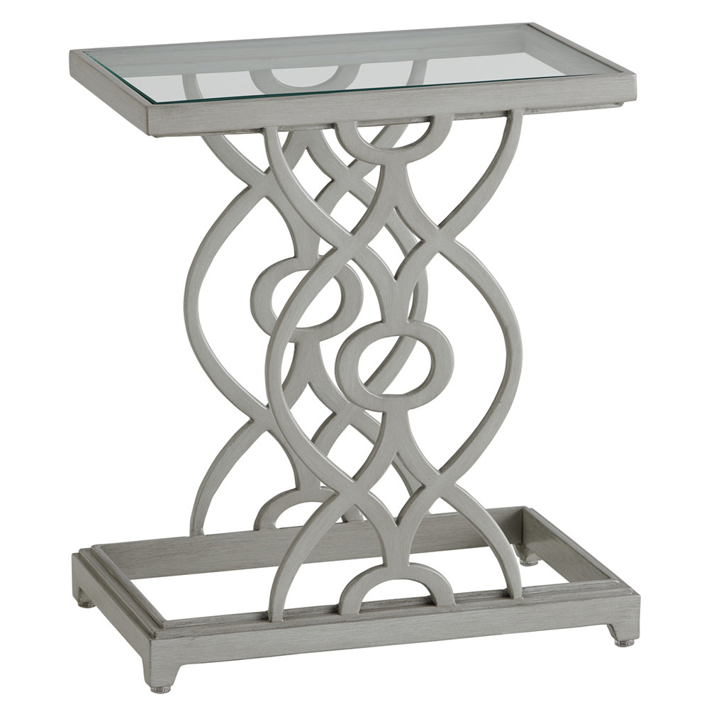 Tommy Bahama Silver Sands Rectangular Accent Table with Glass Top - 3945-951