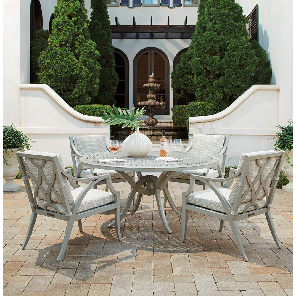 Tommy Bahama Silver Sands Round Outdoor Dining Set for 4 - TB-SILVERSANDS-SET2
