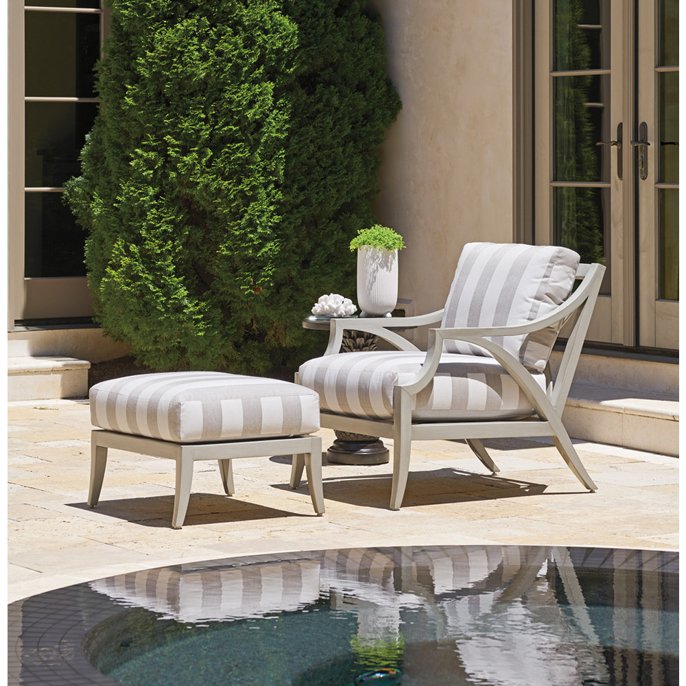 Tommy Bahama Silver Sands Lounge Chair and Ottoman Set - TB-SILVERSANDS-SET7