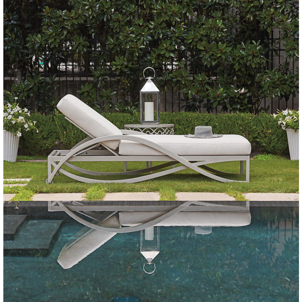 Tommy Bahama Silver Sands Chaise Lounge with Side Table - TB-SILVERSANDS-SET9