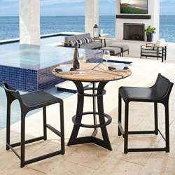 Tommy Bahama South Beach Outdoor Counter Height 3 Piece Patio Set - TB-SOUTHBEACH-SET4