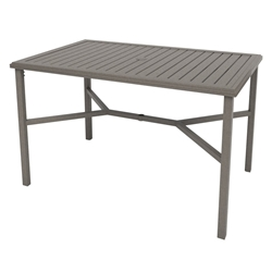 "Tropitone Amici 66"" x 42"" Rectangle Bar Umbrella Table - 691866U-40"