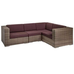 Tropitone Arzo Woven Cushion Outdoor Sectional Set - TT-ARZO-SET6