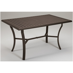 "Tropitone Banchetto 66"" x 42"" Rectangular Counter Umbrella Table - 401166U-34"