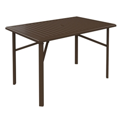 "Tropitone Banchetto 66"" x 42"" Rectangular Bar Umbrella Table - 401566U-40"