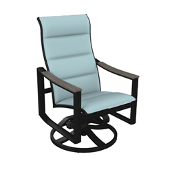Tropitone Brazo Padded Sling High Back Swivel Rocker - 831770PS