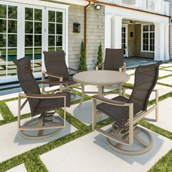 Tropitone Brazo Woven Outdoor Dining Set for 4 - TT-BRAZO-SET4