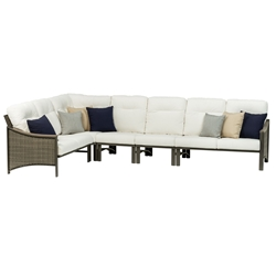 Tropitone Brazo Woven Cushion Outdoor Sectional Set - TT-BRAZO-SET7