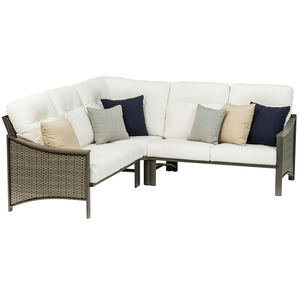 Tropitone Brazo Woven Cushion Outdoor Compact Sectional Set - TT-BRAZO-SET8