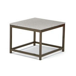 "Tropitone Cabana Club 24"" End Table with Granite Stone Top - 591024B-ST24S"