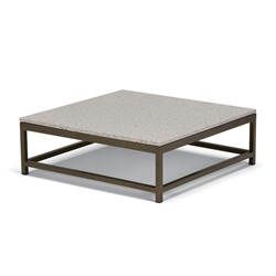 "Tropitone Cabana Club 34"" Coffee Table with Granite Stone Top - 591034B-ST34S"