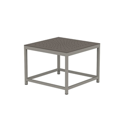 "Tropitone Cabana Club 24"" Square End Table with Aluminum Top - 591624ST"