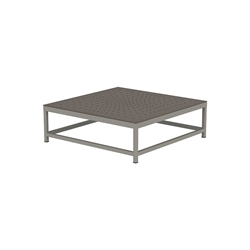 "Tropitone Cabana Club 34"" Square Coffee Table with Aluminum Top - 591634ST"
