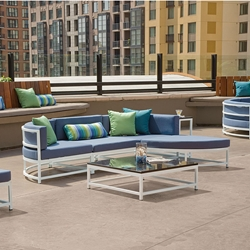 Tropitone Cabana Club Outdoor Sectional with Ottoman - TT-CABANACLUB-SET1