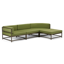 Tropitone Cabana Club Outdoor Compact Sectional Set with Ottoman - TT-CABANACLUB-SET14