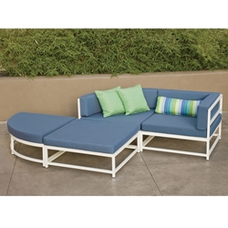 Tropitone Cabana Club Outdoor Compact Sectional Set - TT-CABANACLUB-SET3