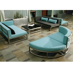 Tropitone Cabana Club Party Lounger Outdoor Sectional Set - TT-CABANACLUB-SET4