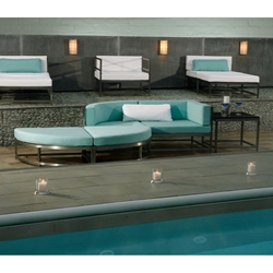 Tropitone Cabana Club Outdoor Party Lounger and Ottoman Set - TT-CABANACLUB-SET5