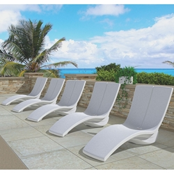 Tropitone Curve MGP Set of 5 Pool Ledge Loungers - TT-CURVE-SET3