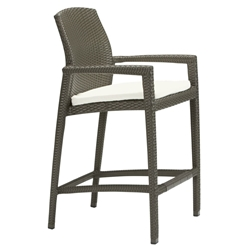 Tropitone Evo Stationary Bar Stool with Seat Pad - 36082605