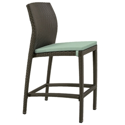 Tropitone Evo Armless Bar Stool with Seat Pad - 36162905