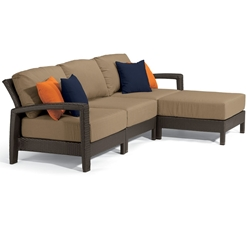 Tropitone Evo Woven Outdoor Sectional Sofa Set and Ottoman - TT-EVO-SET14
