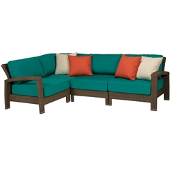 Tropitone Evo Woven Outdoor Compact Sectional Set - TT-EVO-SET16