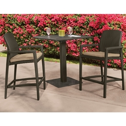 Tropitone Evo Woven Outdoor Bar Set for 2 - TT-EVO-SET4