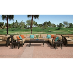 Tropitone Evo Woven Outdoor Sectional Set with Coffee and Accent Tables - TT-EVO-SET6