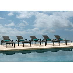 Tropitone Evo Woven Outdoor Chaise Lounge Set for 5 - TT-EVO-SET9