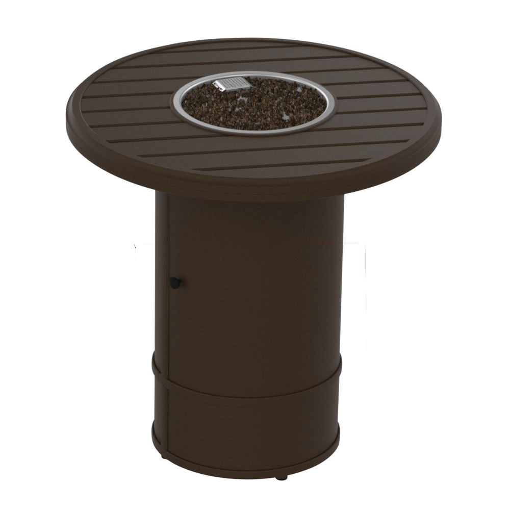 "Tropitone Banchetto 30"" Round Fire Pit Counter Height Table - 34"" Height - 401641FPM-RFP16RSR-34"