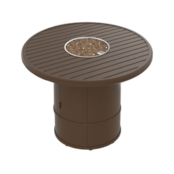 "Tropitone Banchetto 42"" Round Fire Pit Counter Height Table - 34"" Height - 401642FPM-RFP15RSR-34"