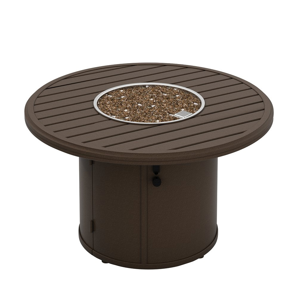 "Tropitone Banchetto 42"" Round Fire Pit - 18""H with Built In Ignitor - 401942FP-18"