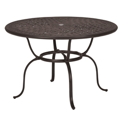 "Tropitone Cast Garden Terrace 55"" Round Counter Umbrella Table - 820649-34"