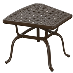 "Tropitone Cast Garden Terrace 30"" x 26"" Wedge End Table - 82153026WG"