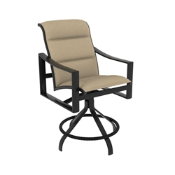 Tropitone Kenzo Padded Sling Swivel Counter Stool - 381527PS-25