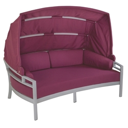 Tropitone Kor Cushion Lounger with Shade - 901650SD