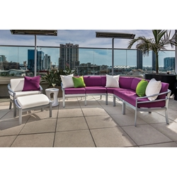 Tropitone Kor Cushion Outdoor Sectional Set with Lounge Chair - TT-KOR-SET1