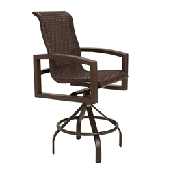 Tropitone Lakeside Woven Swivel Bar Stool - 740527WS-28
