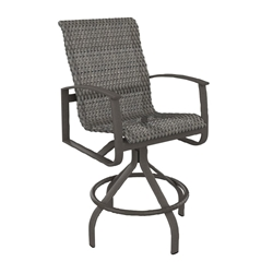 Tropitone Mainsail Woven Swivel Bar Stool - 181727WS-28