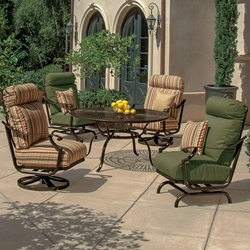 Tropitone Montreux II Cushion Outdoor Lounge Set for 4 - TT-MONTREUXII-SET6