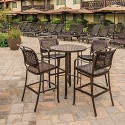 Tropitone Palladian Woven Outdoor Bar Set for 4 - TT-PALLADIAN-SET2