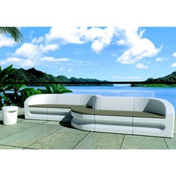 Tropitone Radius Outdoor Furniture Sectional Set with Seat Pads - TT-RADIUS-SET1