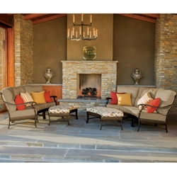 Tropitone Ravello Cushion Outdoor Crescent Furniture Set - TT-RAVELLO-SET2