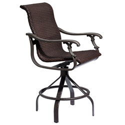 Tropitone Ravello Woven Swivel Bar Stool - 650727WS-28