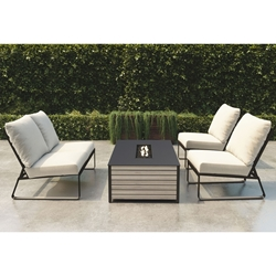 Tropitone Samba Cushion Armless Outdoor Modular Furniture Set - TT-SAMBA-SET3