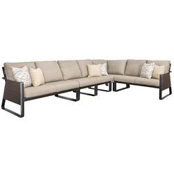 Tropitone Samba Woven Outdoor Sectional Furniture Set - TT-SAMBA-SET6