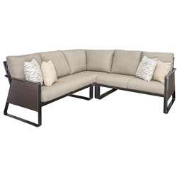 Tropitone Samba Woven Outdoor Compact Sectional Furniture Set - TT-SAMBA-SET7